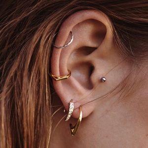 Luv Aj Crescent Hoop huggie earrings